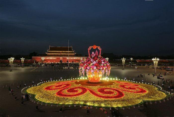 2012天安门广场国庆花坛