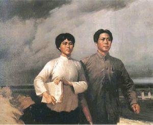 毛泽东与其夫人杨开慧