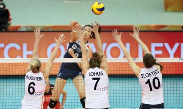 China edges Netherlands at women's volleyball worlds