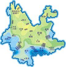 云南省年降水量