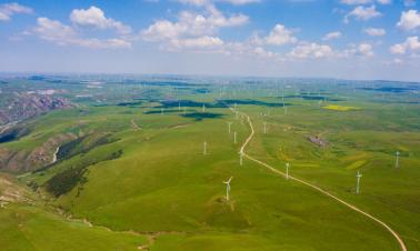 Prairie scenery in Qahar Right Wing Middle Banner of Ulanqab, N China's Inner Mongolia