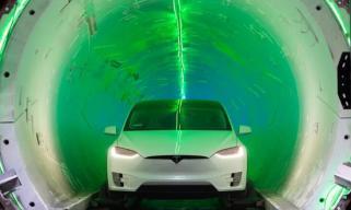 特斯拉汽车隧道/地面速度PK 地下速度完爆地面