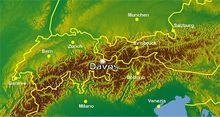 达沃斯的地理位置