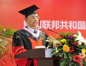 缅甸总统吴登盛在西北农林科技大学发表演讲