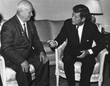 1961年在维也纳会见赫鲁晓夫