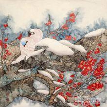 张桂枝花鸟画