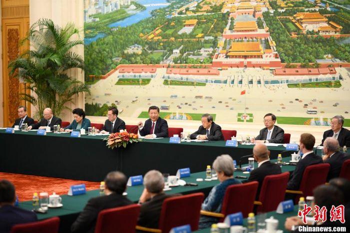 习近平会见清华大学经济管理学院 顾问委员会海外委员