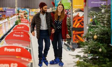 UK supermarket launches ice rink shopping