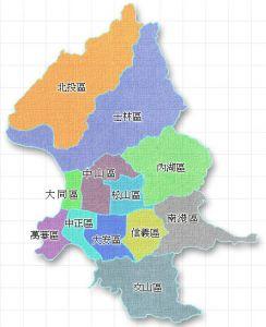 台北市行政区划