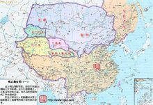 明朝后期同鞑靼和瓦剌对峙形势图