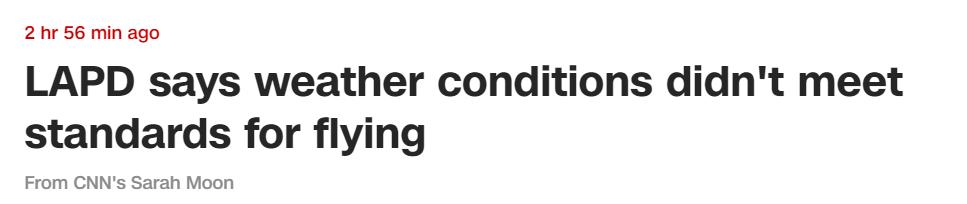 科比坠机调查正进行 警察局:天气不符合飞行标准