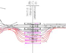 通辽站站场平面图