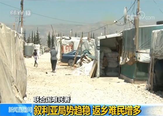 联合国难民署:叙利亚局势趋稳 返乡难民增多