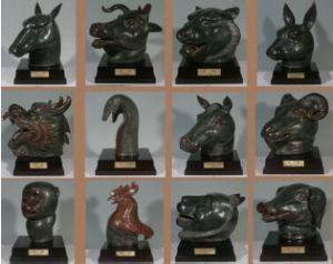 圆明园十二生肖兽首铜像