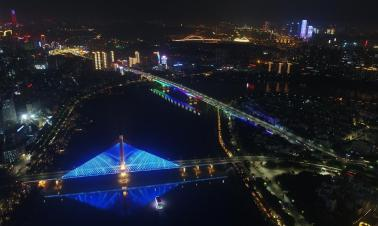 Night view of Nanning, south China's Guangxi