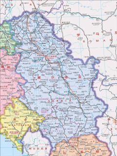 塞尔维亚地图