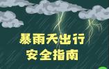 您有一份暴雨天出行安全指南,请查收