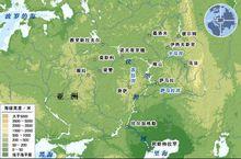 伏尔加河的流域图