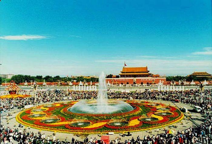 1997天安门广场国庆花坛