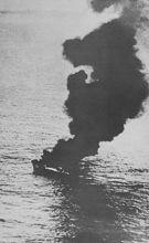 日东丸23号被击毁,燃起熊熊大火