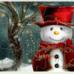 可愛雪人拼圖