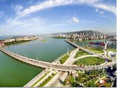 宝鸡城区段渭河