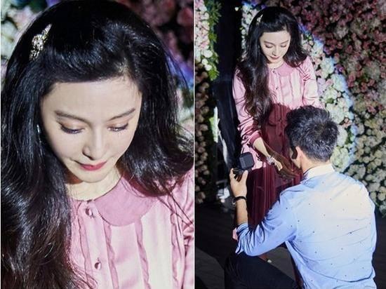 李晨单膝跪地求婚 36岁的范冰冰感动流泪