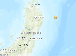 日本东部海域发生4.7级地震 震源深度35千米