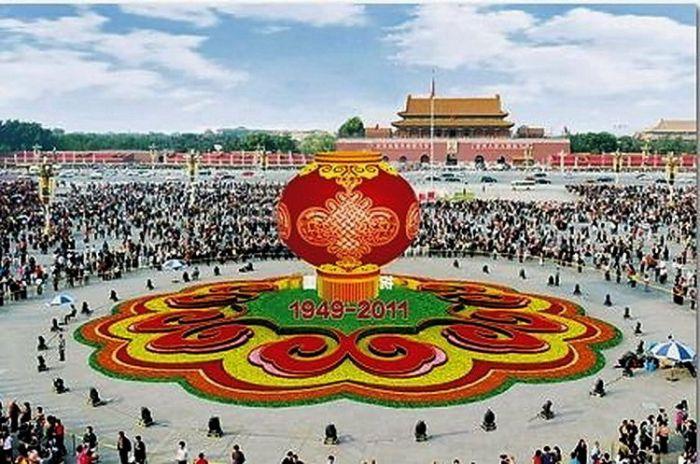 2011天安门广场国庆花坛